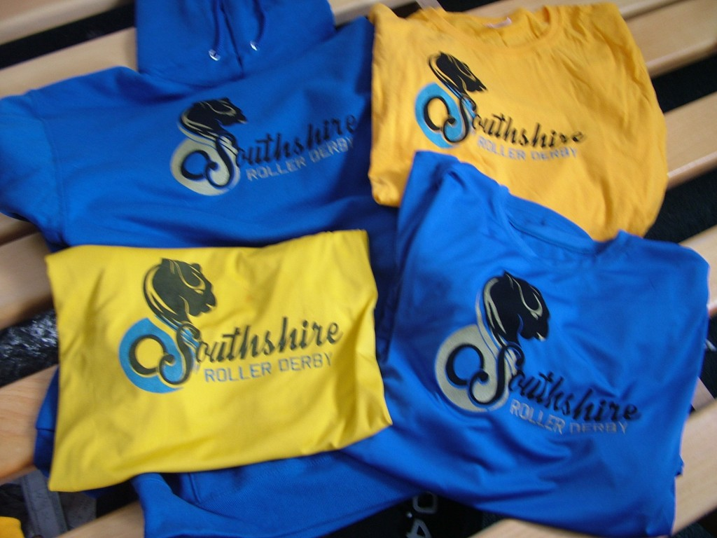Southshire Roller Derby hoodies and t-shirts