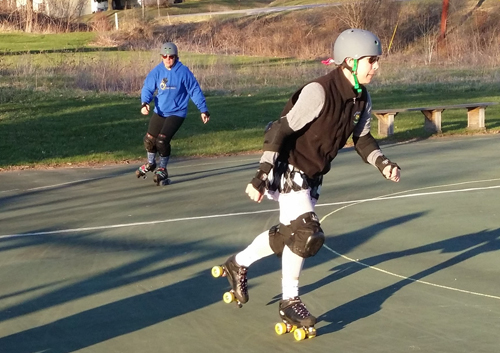Southshire Roller derby starts holding outdoor practice