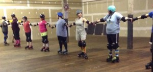 Roller derby friendship snake