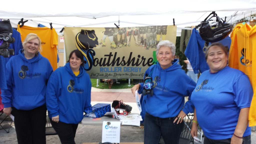 Manning the Southshire Tent at the Manchester StreetFair