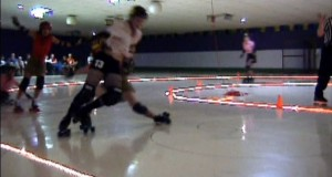 The first flat track roller derby game - 2002 Austin, TX